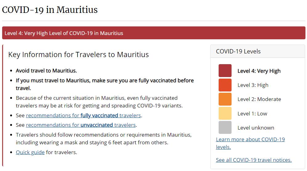 Liste rouge du CDC : « On serait surpris si Maurice recevait 100 000 touristes cette année » | Sunday Times